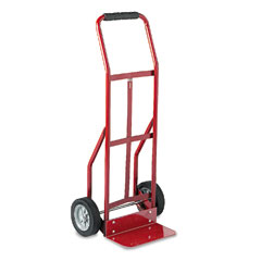 Safco 4081R Two-Wheel Steel Hand Truck, 300Lb Capacity, 18 X 44, Red
