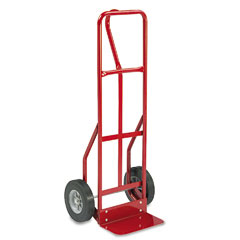 Safco - two-wheel steel hand truck, 500lb capacity, 18w x 47h, red, sold as 1 ea