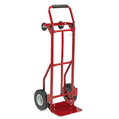 Safco 4086R Two-Way Convertible Hand Truck, 500-600Lb Capacity, 18W X 51H, Red
