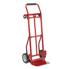 Safco 4087R Two-Way Convertible Hand Truck, 300-400Lb Capacity, 18W X 51H, Red