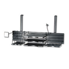 Safco 4105CH Designworks Off-Surface Organizer, 36 1/4 X 18, Charcoal
