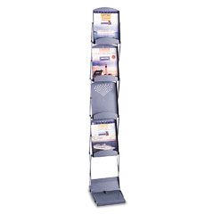 Safco - portable folding literature display, 10w x 13-1/4d x 56h, metallic gray, sold as 1 ea