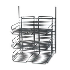 Safco 4150CH Panelmate Triple-Tray Organizer, 13 1/2 X 17 1/4, Charcoal Gray