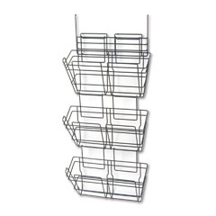 Safco 4151CH Panelmate Triple-File Basket Organizer, 15 1/2 X 29 1/2, Charcoal Gray