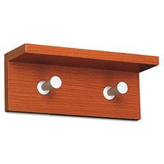 Safco 4220CY Wood Wall Rack, 2 Hook, Cherry