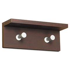 Safco 4220MH Wood Wall Rack, 2 Hook, Mahogany