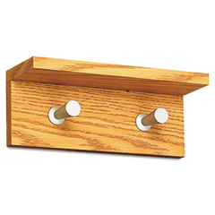 Safco 4220MO Wood Wall Rack, 2 Hook, Medium Oak