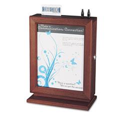 Safco - customizable wood suggestion box, 10 1/2 x 13 x 5 3/4, mahogany, sold as 1 ea
