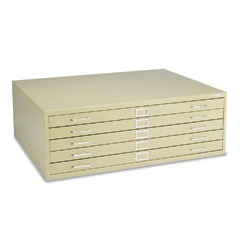 Safco 4996TSR Five-Drawer Steel Flat File, 46-3/8W X 35-3/8D X 16-1/2H, Tropic Sand
