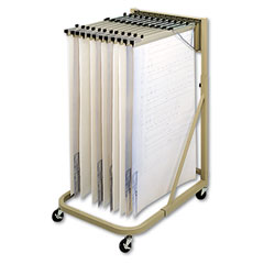 Safco 5026 Steel Sheet File Mobile Stand, 12 Hanging Clamps, 27W X 37-1/2D X 61-5/8H, Sand