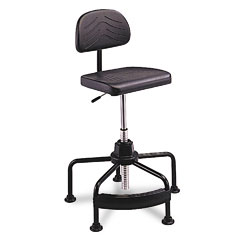 Safco - taskmaster economahogany industrial chair, black, sold as 1 ea