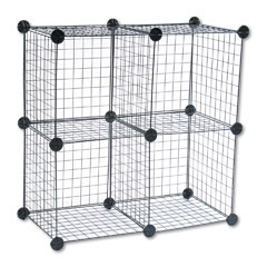 Safco 5279BL Wire Cube Shelving System, 14W X 14D X 14H, Black