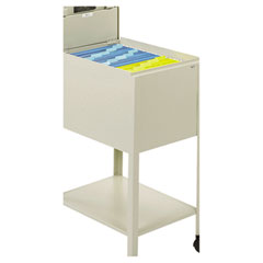 Safco 5361PT Standard Locking Mobile Tub File, Letter Size, 13-1/2W X 19-1/4D X 28H, Putty