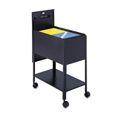 Safco 5362BL Extra-Deep Locking Mobile Tub File, 13-1/2W X 24-3/4D X 28-1/4H, Black