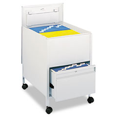 Safco 5365GR Locking Mobile Tub File With Drawer, Legal Size, 20W X 26D X 28H, Gray