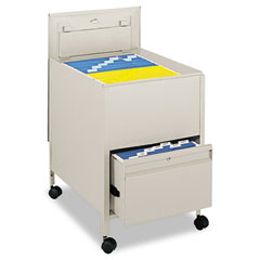 Safco 5365PT Locking Mobile Tub File With Drawer, Legal Size, 20W X 26D X 28H, Putty