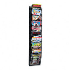 Safco - mesh literature rack, 10 compartments, 10-1/4w x 3-1/2d x 50-3/4h, black, sold as 1 ea