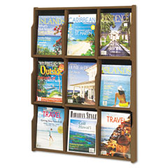 Safco SAF5706MB Expose Literature Display, 29-3/4w x 2-1/2d x 38-1/4h, Mahogany/Black