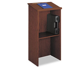 Safco - stand-up lectern, 23w x 15-3/4d x 46h, cherry, sold as 1 ea