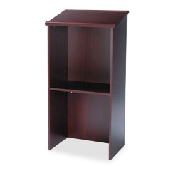 Safco - stand-up lectern, 23w x 15-3/4d x 46h, mahogany, sold as 1 ea