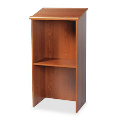 Safco - stand-up lectern, 23w x 15-3/4d x 46h, medium oak, sold as 1 ea