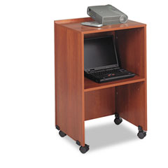 Safco 8917CY Lectern Base/Media Cart, 21-1/4W X 17-1/2D X 33-3/4H, Cherry