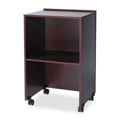 Safco - lectern base/media cart, 21-1/4w x 17-1/2d x 33-3/4h to 45h, mahogany, sold as 1 ea