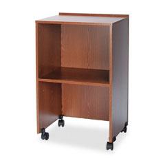 Safco 8917MO Lectern Base/Media Cart, 21-1/4W X 17-1/2D X 33-3/4H, Medium Oak