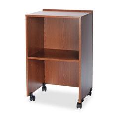Safco 8917MO Lectern Base/Media Cart, 21-1/4W X 17-1/2D X 33-3/4H, Medium Oak