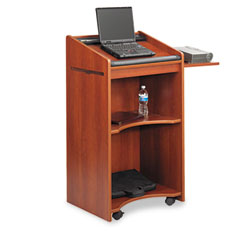 Safco - executive mobile lectern, 25-1/4w x 19-3/4d x 46h, cherry, sold as 1 ea
