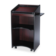 Safco - executive mobile lectern, 25-1/4w x 19-3/4d x 46h, mahogany, sold as 1 ea