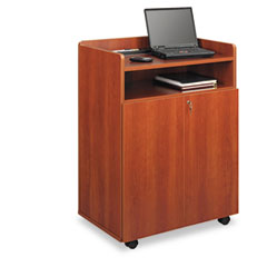 Safco - executive mobile presentation stand, 29-1/2w x 20-1/2d x 40-3/4h, cherry, sold as 1 ea