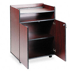 Safco - executive mobile presentation stand, 29-1/2w x 20-1/2d x 40-3/4h, mahogany, sold as 1 ea