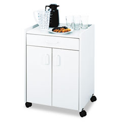Safco 8953GR Mobile Refreshment Center Cart, 1-Shelf, 23W X 18D X 31H, Gray