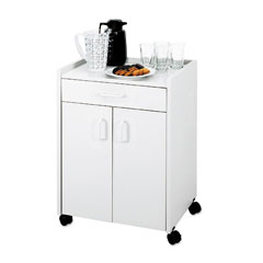 Safco 8954GR Mobile Refreshment Center, 1-Shelf, 23W X 18D X 31H, Gray