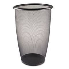 Safco 9718BL Onyx Round Mesh Wastebasket, Steel Mesh, 9 Gal, Black