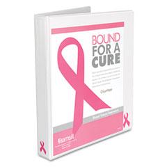 "Samsill 10050 Breast Cancer Awareness View Binder, 1"" Capacity, White"