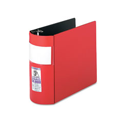 Samsill - top performance dxl locking d-ring binder with label holder, 5-inch capacity, red, sold as 1 ea