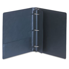 Samsill - top performance dxl locking d-ring binder with label holder, 1-inch cap, burgundy, sold as 1 ea