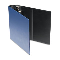 Samsill - top performance dxl locking d-ring binder with label holder, 2-inch cap, dark blue, sold as 1 ea