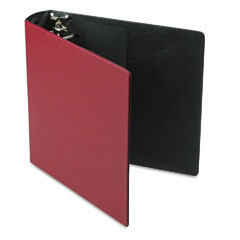 Samsill - top performance dxl locking d-ring binder with label holder, 2-inch cap, burgundy, sold as 1 ea