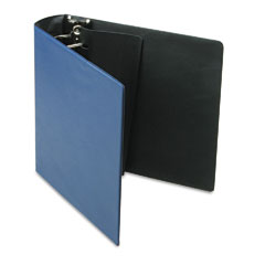 Samsill - top performance dxl locking d-ring binder with label holder, 3-inch cap, dark blue, sold as 1 ea