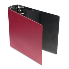 Samsill - top performance dxl locking d-ring binder with label holder, 3-inch cap, burgundy, sold as 1 ea