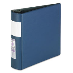 Samsill - top performance dxl locking d-ring binder with label holder, 4-inch cap, dark blue, sold as 1 ea