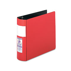 Samsill - top performance dxl locking d-ring binder with label holder, 4-inch capacity, red, sold as 1 ea