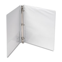"Samsill 18537 Economy Round Ring View Binder, 8-1/2 X 11, 1"" Capacity, White"