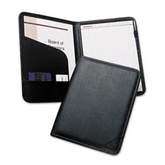 Samsill 70810 Professional Pad Holder, Storage Pockets/Card Slots, Writing Pad, Black