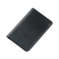 Samsill - regal leather business card wallet holds 25 2 x 3 1/2 cards, black, sold as 1 ea