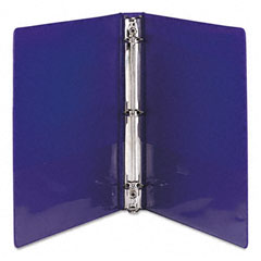 Samsill - presentation view binder, round ring, 11 x 8-1/2, 1-inch capacity, purple, 2/pack, sold as 1 pk
