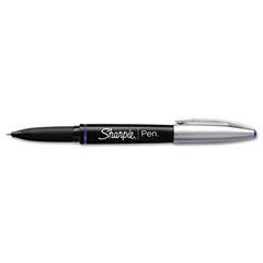 Sharpie - grip porous point stick permanent water resistant pen, blue ink, fine, sold as 1 ea
